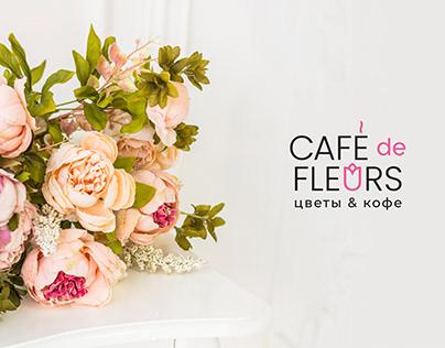 Логотип для цветочного магазина-кофейни Сafe de Fleurs
