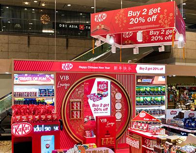 KitKat CNY Airport Display
