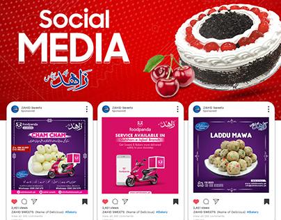 Social Media - Zahid Sweets