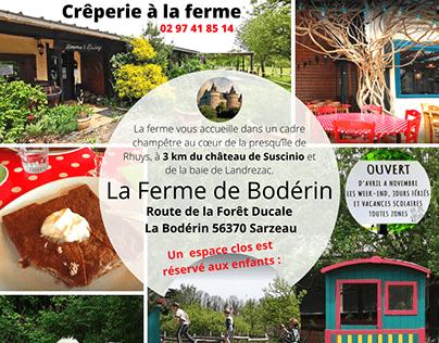 Crêperie Ferme de Bodérin 56 Sarzeau château Suscinio