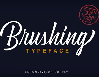 Brushing Typeface