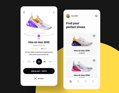 Shoe Store Mobile App Exploration