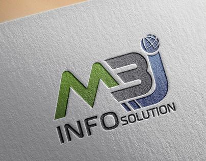 MBJ Info Solution Logo Design