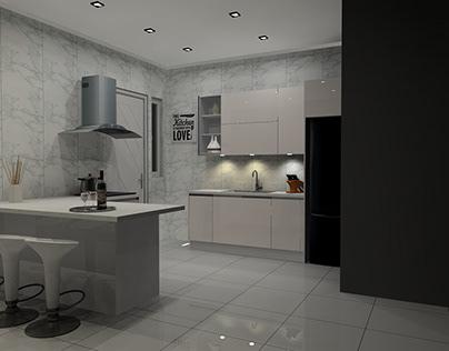 Sleek Linear Kitchen Design