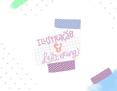 Ilustração & Lettering - Colabe Clube do adesivo