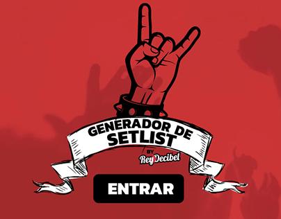 Generador de Setlist para músicos
