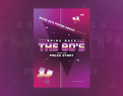 Retro 80's Style Poster Design - Adobe Illustrator Tuto