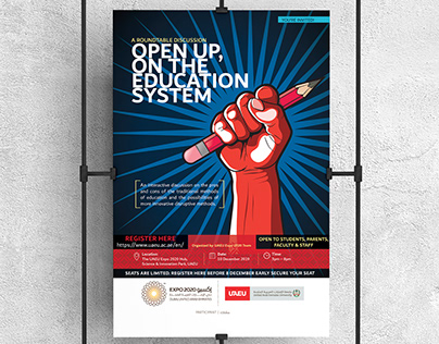 Open Up Education System - Poster Design