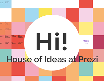 Hi! House of Ideas at Prezi – visual identity