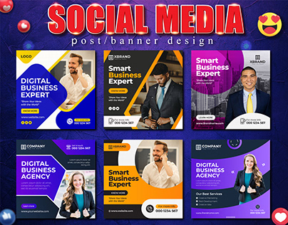 Business Social Media or Instagram Post Templates