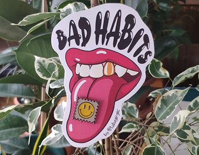 Bad Habits Enamel Pin