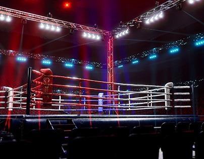 Empty Boxing Arena UE4 Realtime location