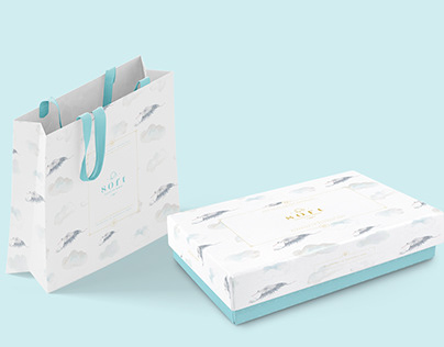 Illustration and pattern for baby's store brand