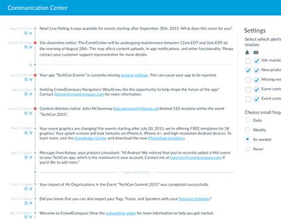 CrowdCompass EventCenter Redesign, 2015-2016