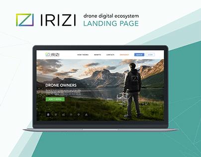 IRIZI - Landing Page | Responsive Website design