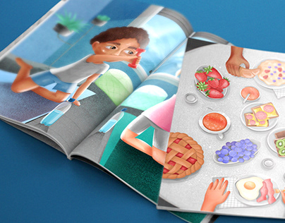 Illustrations for a book on a healthy lifestyle