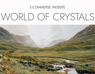 Online store of crystals and minerals (e-commerse)
