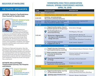 MHTA Spring Conference Agenda - part of large program