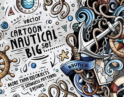 Nautical Cartoon Vector Pack