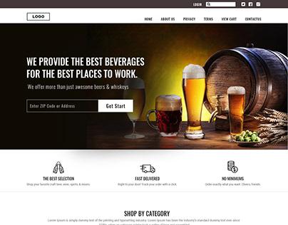Beer & Wine Online Sale Mockup Design