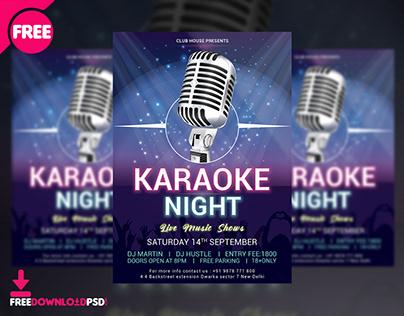 Karaoke Night Flyer Free PSD