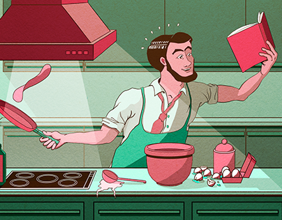 The Kitchen Prince: Illustration planning & Composition