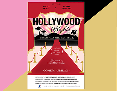 Hollywood Nights Poster and Event Materials