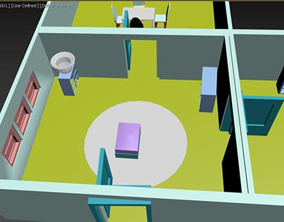 Modélisation d'un appartement 3D