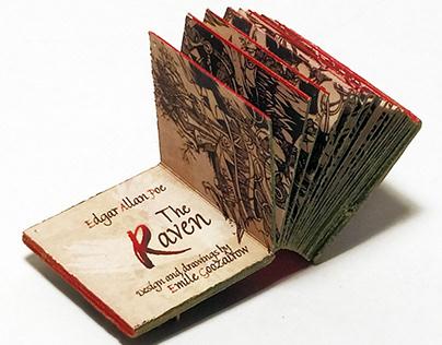 "Micro Miniature Book ""The Raven"""