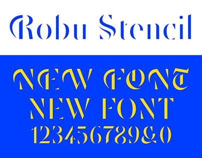 New Font: Robu Stencil