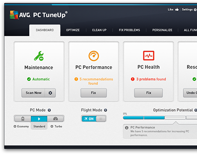 AVG PC TuneUp 2014 re-design (2013)