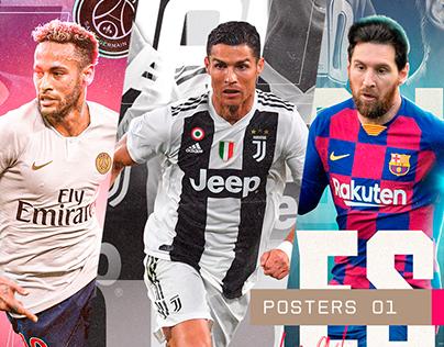 Projeto pessoal - Posters Futebol