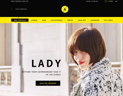 Lady - Ecommerce Design
