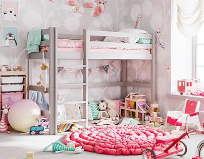 Children bedroom   Baby Cot - Faktorteh