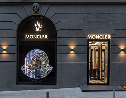 Interior photoshoot of Moncler showroom in Kyiv