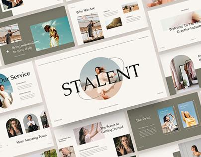 Stalent - Minimalist Presentation Templates