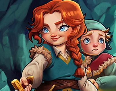 Fenni & Karu Game Art