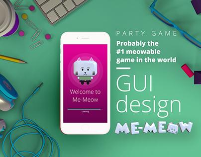 Me-Meow App: GUI Design