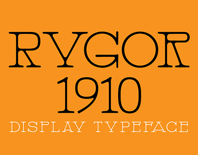 Rygor Typeface