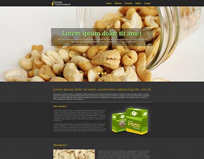 Pandit Food Home Page Design option
