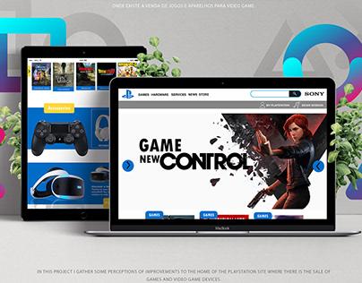 Redesign Website Home - Playstation