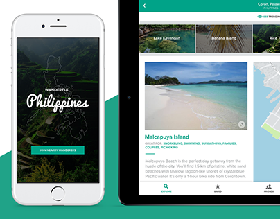 Wanderful Philippines - Adobe XD (Preview) Test