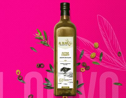 Diseño de etiqueta Aceite de Oliva - AL OLIVO
