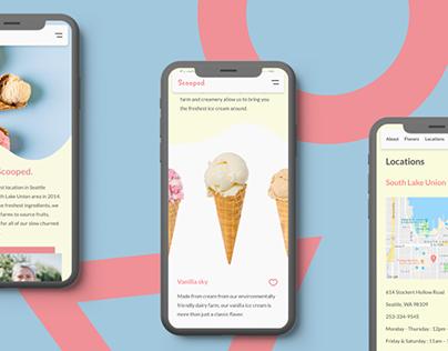Scooped Ice Cream Desktop and Mobile Site