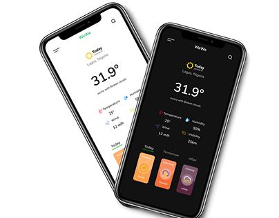 WEWE v2 - weather forecast app concept