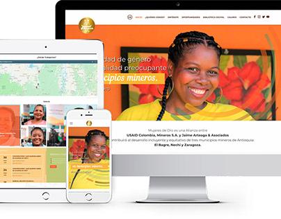 Diseño de Sitio Web Mujeres de Oro