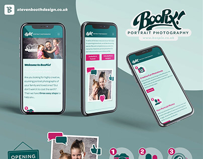 UI Design and Branding for photography website