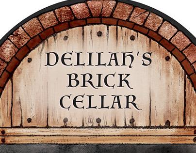 Delilah's Brick Cellar Wine Label