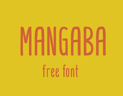 MANGABA - FREE HAND DRAWN FONT
