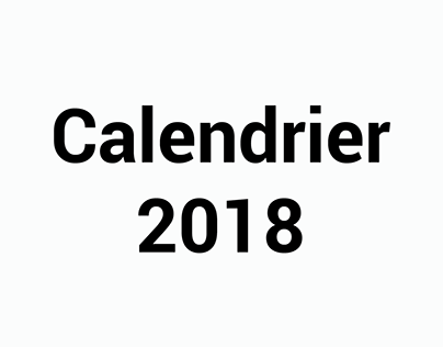 Monthly Calendar 2018 - Printed Design (in French)
